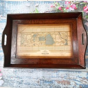 ANTIQUE HINRICHS Map Of The Central Park Tray